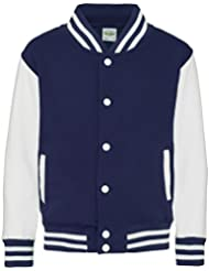 Kids varsity jacket Oxford Navy-White 3-4 years