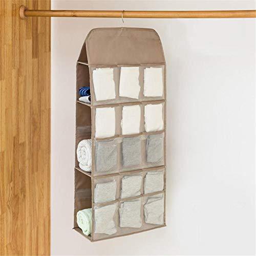 Adminitto88 Closet Hanging Storage Bag, Hängende Aufbewahrungsbox, Hängende Unterwäsche BH Socken Sonnenbrille Closet Organizer, Stoff Hängen Regale
