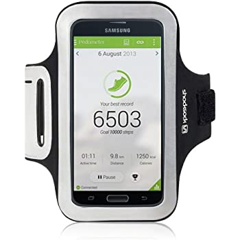Shocksock Slim Fit Neopren Sport Armband für Samsung Galaxy S5 Schwarz
