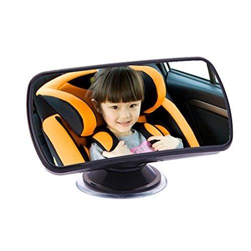 Siège de sécurité pour auto Rétroviseur intérieur Rétroviseur auxiliaire Surface réfléchissante Succion Cup Clip miroir