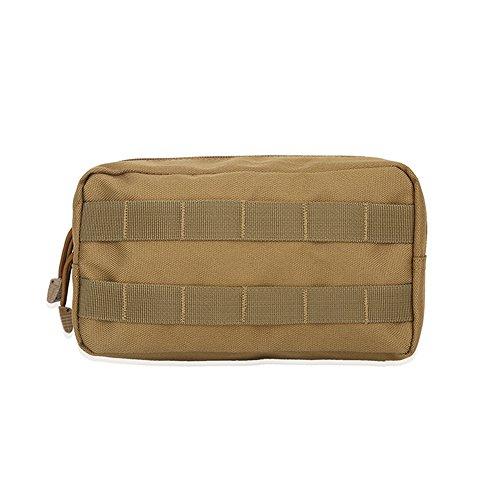 Taktische medizinische Tasche Multifunktions Erste Hilfe Notfalltasche für CS Feild Game Camping Radfahren leer(Khaki)