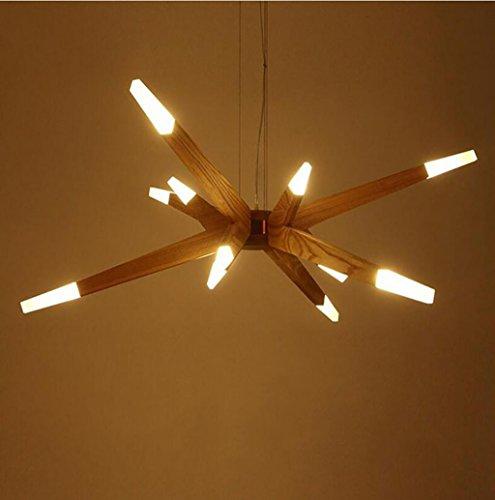 Preisvergleich Produktbild YH Einfache Moderne Wohnzimmer Esszimmer Jupiter Kronleuchter Nordic Kreative LED Massivholz Kronleuchter A