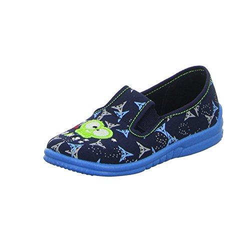 Sneakers STAS445 Jungen Hausschuh Kaltfutter Blau (Blau)