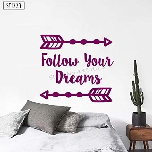 yiyiyaya Wandtattoo Folgen Sie Ihren Träumen Pfeil Wandaufkleber Für Kinderzimmer Kinderzimmer Dekoration Modernes Design Kunst Wohnkultur 48 * 42 cm