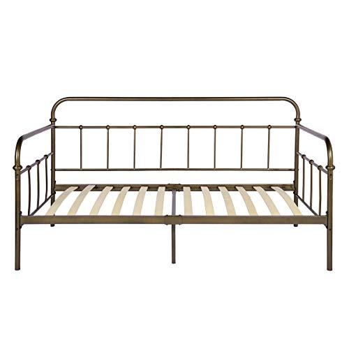 Aingoo Romantische Tagesbet, Daybed im Vintage-Stil mit Holzlatten, ideal als Schlafsofa oder Einzelbett für Kinderzimmer, Erwachsenenzimmer, Gästezimmer, Bronze -