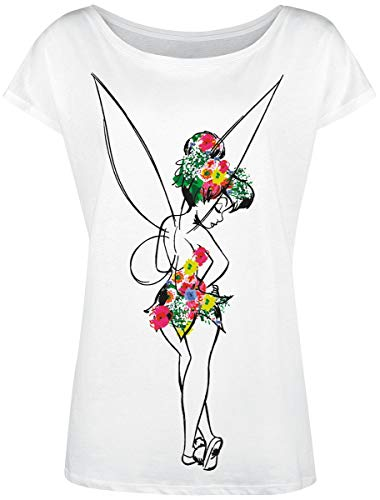 Peter PAN Tinker Bell - Flower Power T-Shirt weiß M -
