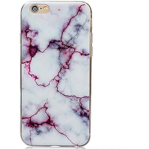 FunnyJay Simple pintura grietas mármol suave funda (iPhone 5C iPhone 6S Plus iPhone 6S iPhone 6 Plus iPhone 6 iPhone SE iPhone 5/5S iPhone 4/4S )(iPhone