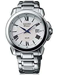 Seiko Premier SNE453P1 Reloj de Pulsera para hombres Calendario perpetuo