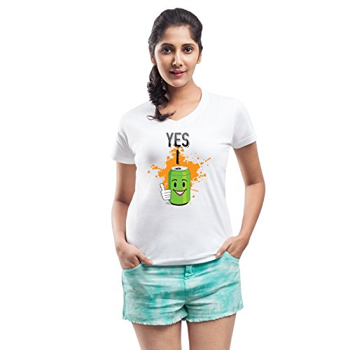 Yes I can Women's White Casual Printed T-shirt  available at amazon for Rs.269
