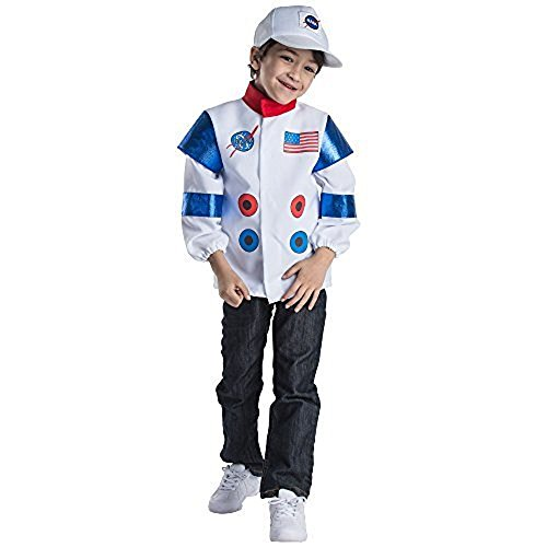 Dress Up America 834 - Astronauten-Rollenspielset - Alter 3-6 Jahre, mehrfarbig (Raumanzug Kostüm Für Kinder)
