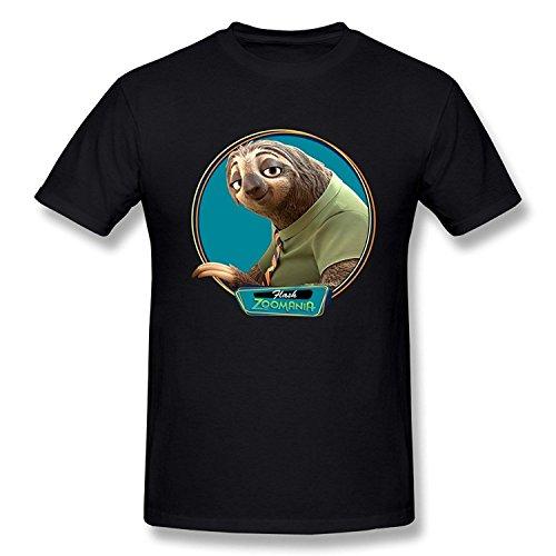 SEagleo Men's Zootopia Sloth Flash T-shirts XLarge