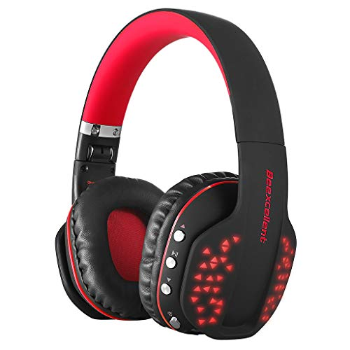 MObast Bluetooth Headset Beexcellent Q2 LED Stereo HiFi Funk Kopfhörer Stretch mit Mikrofon für PS4 PC Mobiltelefon
