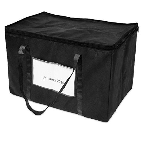 achilles, Ordnertasche, Tasche zum sauberen Archivieren von Aktenordnern, Aktentasche für Buchhaltung, schwarz, 50 cm x 30 cm x 33 cm