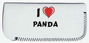 Étui à lunettes avec J'aime Panda (prénom/nom/Surnom)