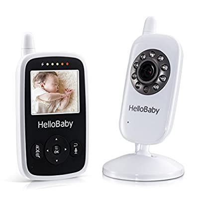 Hello Baby - Best Video Baby Monitor Wireless with Night Vision 2.4 inch Digital Screen / Smart Camera with Temperature Monitors HB24