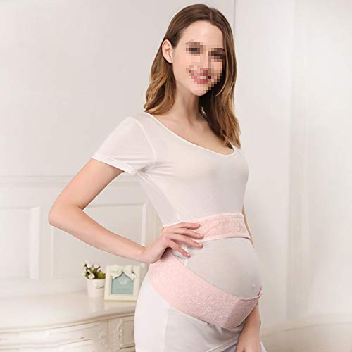 LUCKY-MTYSPS Schwangerschaft gürtel, Schwangerschaft/Mutterschaft gürtel, weibliche unterstützung Schwangerschaft Bauch/rücken/Becken, Spitze Stretch Stoff, elastisch und komfortabel, atmungsaktiv,L -