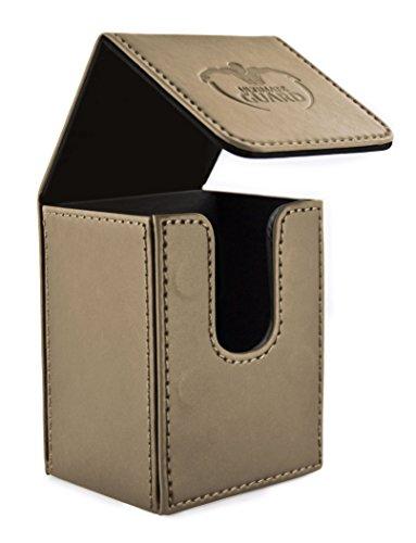 Ultimate Guard UGD010052 - Scatola per carte da gioco, in finta pelle, max. 80 carte di dimensioni standard, color sabbia