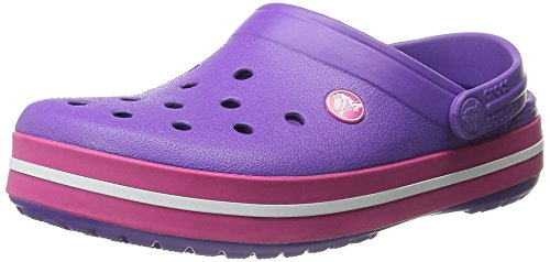 Crocs Crocband - Sabots - Mixte Adulte Rose (Neon Purple/Candy Pink)