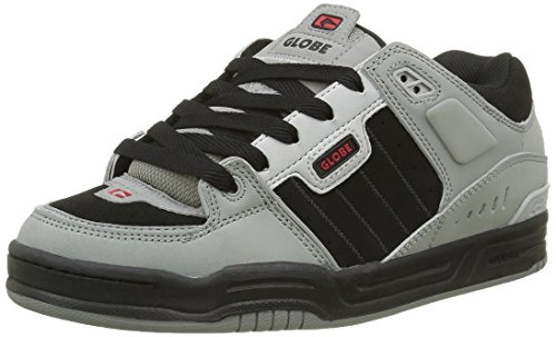 Globe Fusion, Scarpe da Skateboard Uomo, Nero (Grey/Black/Red), 47 EU