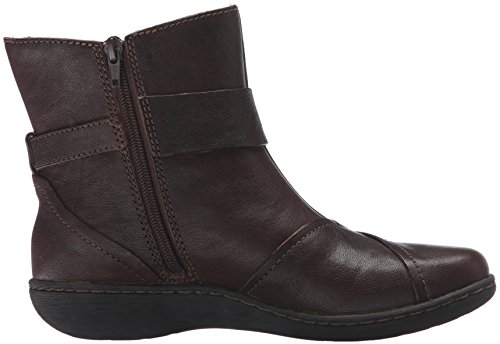 CLARKS Womens Fianna Adley Boot Brown Leather