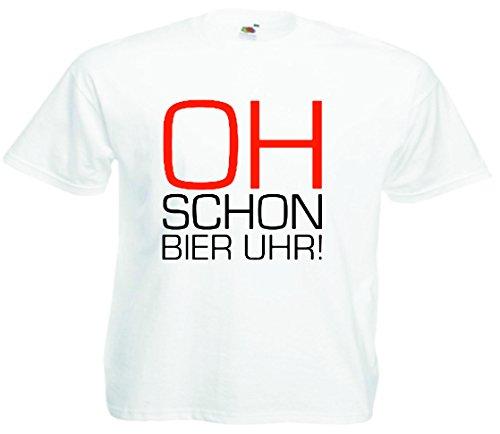 T-Shirt Oktoberfest Wiesn München Junggesellenabschied für Frauen Männer und Kinder in allen Größen XS bis 4XL oder Kinder 104 bis 164 Motiv Nr.35 Herren-Weiß