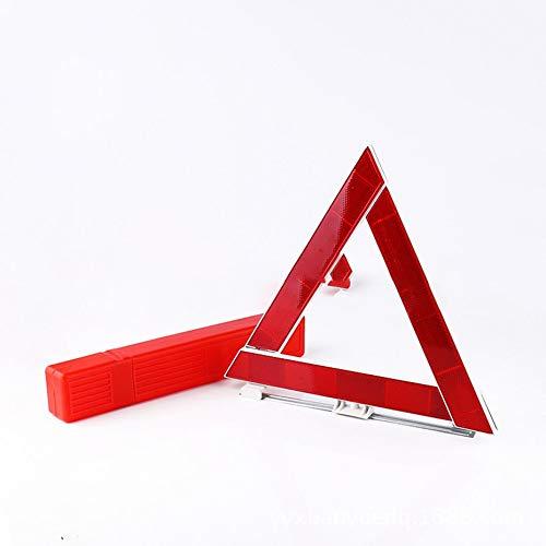 Panneau de signalisation d'urgence en Cas de Panne d'un véhicule Triangle réfléchissant Sécurité routière-Rouge