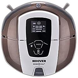 Hoover RBC070 - Robot aspirador con filtro HEPA, hasta 120 minutos de autonomía, programable semanal, incluye dos muros virtuales, color chocolate