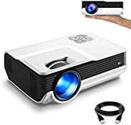 "FunLites 4600lux Portable Video Projector,Supported 1080P Outdoor Movie Projector with 200"" Display 50,00"