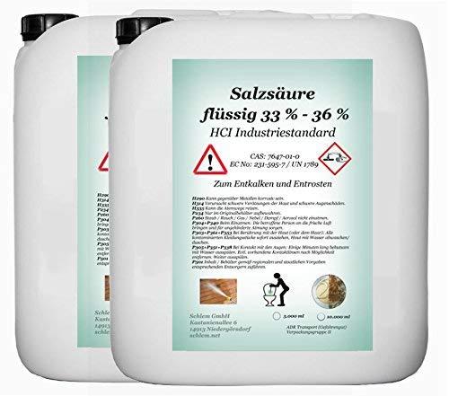 Acido Cloridrico min. 33% industriale merce 33–36% HCL 10litri tanica