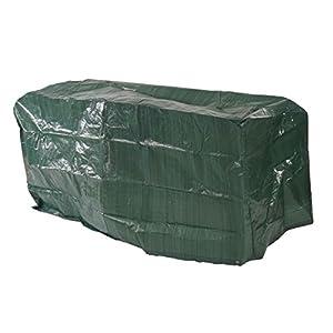 Mendler Abdeckplane Abdeckhaube Schutzplane Schutzhülle Regenschutz für Gartenbänke, 180x70x89cm