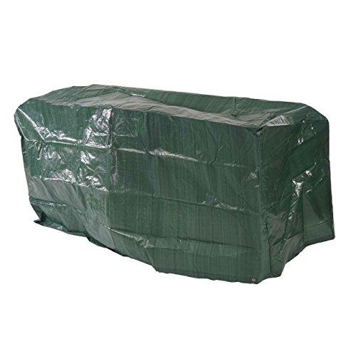 Abdeckplane Abdeckhaube Schutzplane Schutzhülle Regenschutz für Gartenbänke, 180x70x89cm