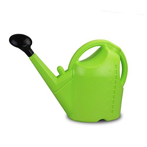 Wddwarmhome L'arrosage de ménage de bouilloire d'arrosage en plastique de la capacité 5L verte longue peut arroser le pot d'arrosage de bouche