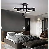 Modern LED Deckenleuchte Wohnzimmerlampe Deckenlampe Dimmbar Designer-Lampe Kreative Schwenkbar 360° Decken Leuchte Eisen Acryl Schirm Hängeleuchte Esszimmer Schlafzimmer Einfache Deko (Schwarz)