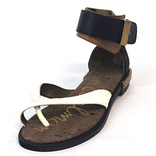 Sam Edelman comoda Poast-Sandali a punta con cinturino alla caviglia, in pelle