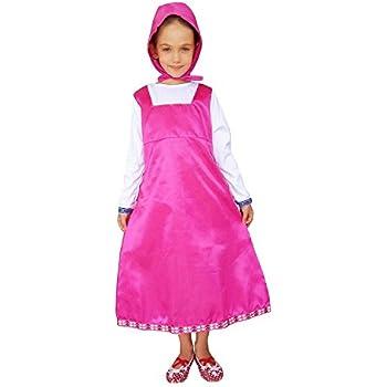 47734fb0b518 Inception Pro Infinite Taglia S - 5 - 6 Anni - Costume - Travestimento -  Carnevale - Halloween - Masha e Orso - Colore Rosa - Bambina