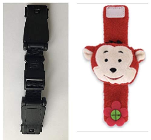 Cintura di sicurezza / imbracatura per passeggino, con clip sul petto, sistema antifuga,  tiene ferme le braccia impedendo al bambino di fuggire