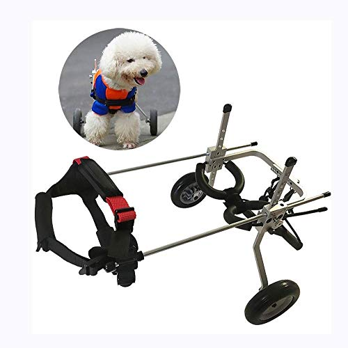 Verstellbarer Hunderollstuhl Hintere Extremität Behinderter Rollstuhl Geeignet Für Schwachen Hund Katze Haustier Rücken Bein Rehabilitation Haustier Autositz (Size : XS)