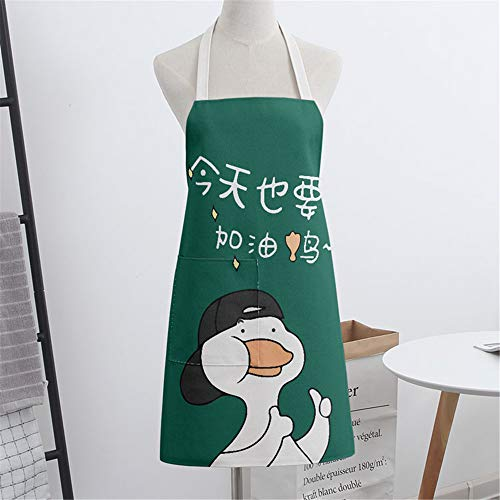 YXDZ Cartoon Gelbe Ente Paar Ärmellose Stoff Home Küche Backen Schürze Kochen Männer Und Frauen Taille Chef Gown Cartoon 6 -