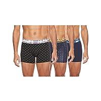 JACK & JONES Men's JACHENRIK Trunks 3 Pack NOOS Boxer Shorts, Multicoloured (Black Detail Navy Blazer), M
