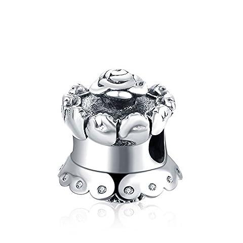 Hmilydyk populaire Bijoux Argent sterling classique Baguette magique Charms Bon Marché Perles Pandora Bracelet à breloques