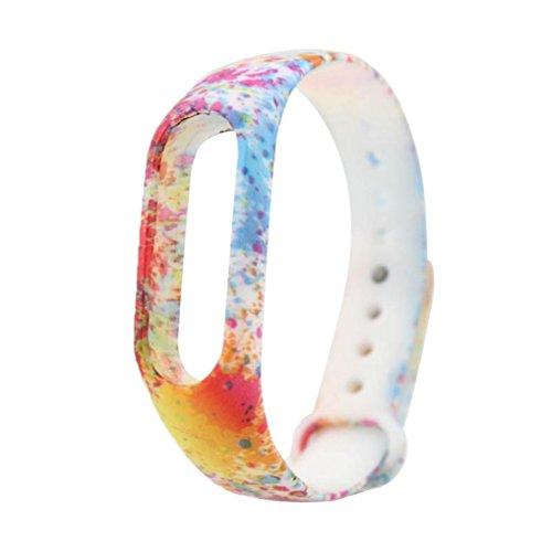 Ouneed Für xiaomi Mi Band 2 Armband , Camouflage multicolor TPU Smart Armbanduhr für Xiaomi Mi Band 2 (A)