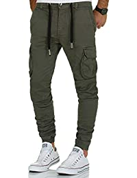 e0a87a7cc23a Urban Surface Herren Cargo Sweat Denim Sweatpants Hose Denim Cargohose  Sublevel