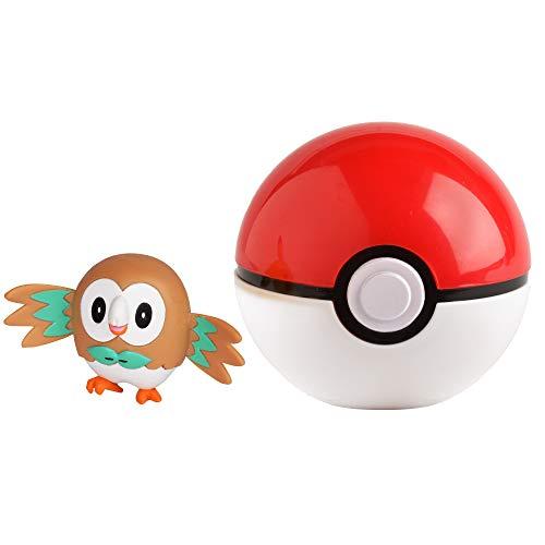 Pokémon 35928 BAUZ & POKÈBALL, Spielset mit Original Pokemonfigur ca. 5 cm und Pokéball für Clip N Go Gürtel, Set mit Pokeball und Pokemon Figur für Pokemontrainer ab 4 Jahre, Trainer (Pokemon Mit Pokeball)
