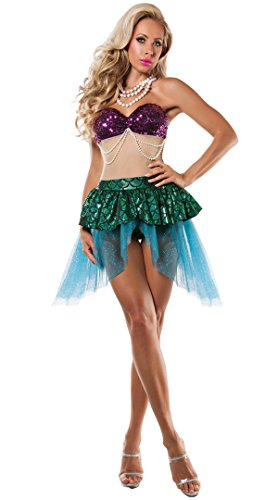 8 Halloween Kostüme Personen Für (Nihiug Halloween Kostüm Erwachsene Weibliche Maskerade Meerjungfrau Kostüm Studio Fotografie Sexy Cosplay Catwalk Kleidung Vorbereiten Für Mädchen Miss)