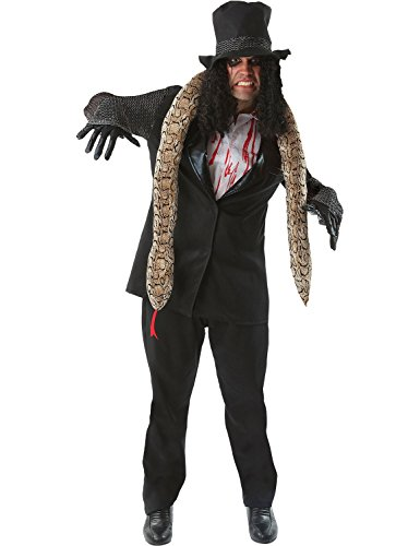 Erwachsener Herren Alice Cooper Schwer Metall Rock Star Karneval Kostüm Extra (Kostüm Rockstar)