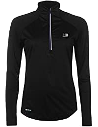 Karrimor Womens X Mistral Running Top Long Sleeve Performance Shirt Chin Guard