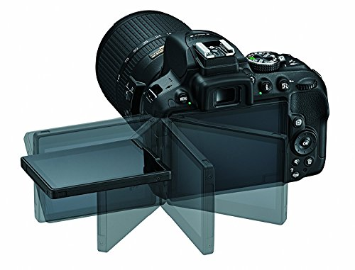 Nikon D5300 DSLR Camera Body with Dual Lens: AF-P DX NIKKOR 18 - 55 mm f/3.5 - 5.6G VR + AF-P DX NIKKOR 70 - 300 mm f/4.5 - 6.3G ED VR (16 GB SD Card + Camera Bag)(Black) 4