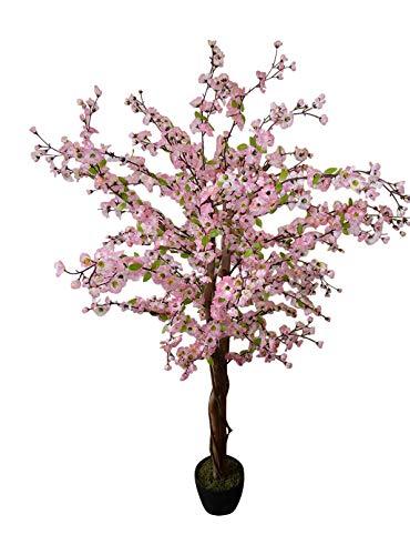 HomeAndGarden.UK Árbol Artificial de 1,7m, Color Rosa Claro, Flor Artificial, Planta Artificial...