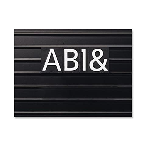 Quartet Characters for Magnetic Letter Boards, Helvetica Font, 1 Inch, 128 Characters per Set, White (M1)