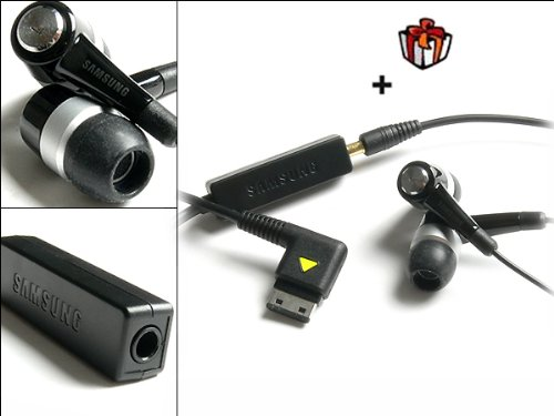Samsung SGH F480 Stereo Headset Black Edition inkl.3,5 mm Klinkenstecker-Adapter zu Mp3 Player